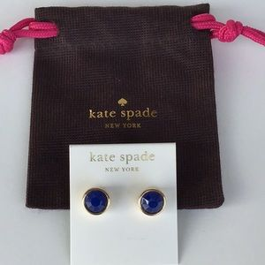 NWT kate spade cobalt blue gumdrop earrings
